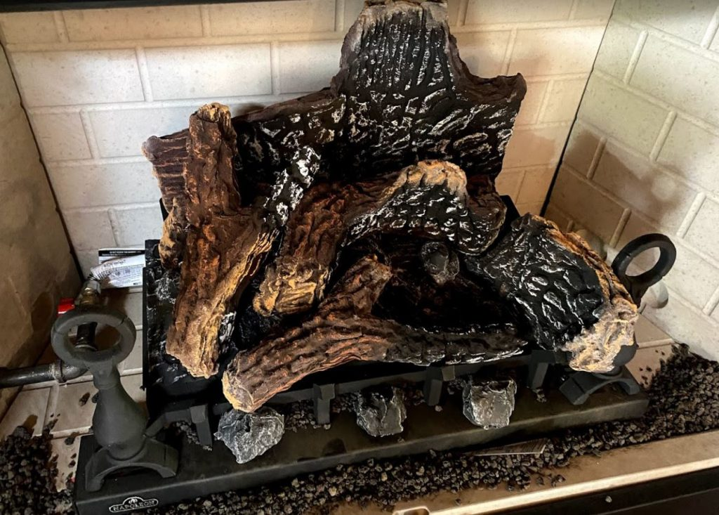 natural looking glow gas logs for sale Gold Cap gas fireplace repair and istallations 928 358 7079