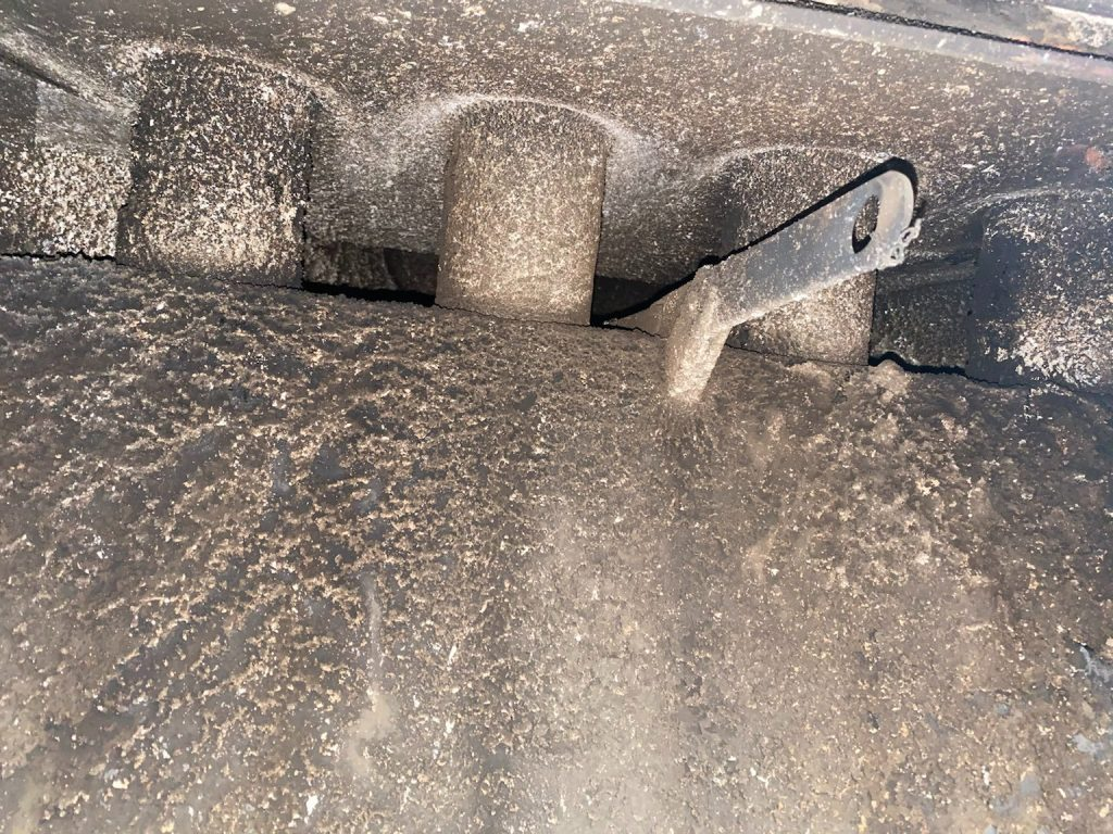 Chimney Sweep Services fireplace damper clean out before and after 1
