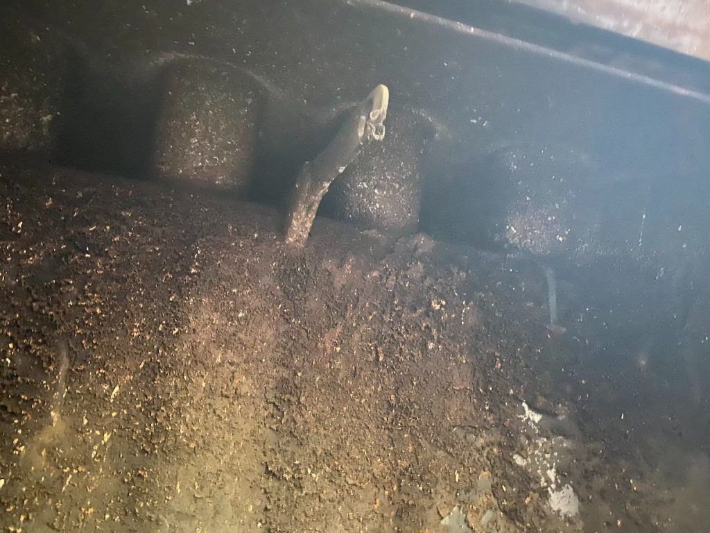 Chimney Sweep Services fireplace damper clean out before and after 4