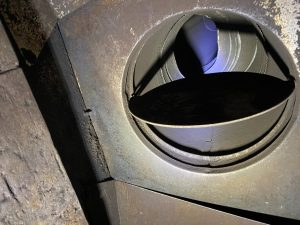 Chimney Sweep Services fireplace damper clean out before and after 8