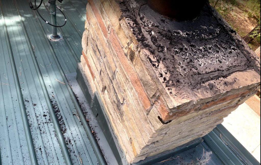 chimney chase needs repairs